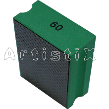 Diamond hand pad flat 90x55 mm 60 green
