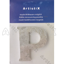 Letters Packing per piece / P,  ±10cm, unfinished basic shape