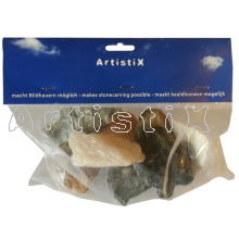 1.2kg Mix soapstone from Brasil and Asia 1 .5kg bag