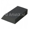 Sanding sponge with square and slanting side